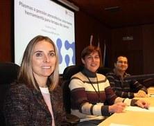 La Dra. Cristina Canal, investigadora convidada al seminari sobre l'aplicació de plasma atmosfèric com a teràpia contra el càncer del CIBIR