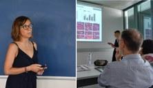La Dra. Mireia Hoyos i la Dra. Joanna M. Sadowska presenten les seves Tesis Doctorals