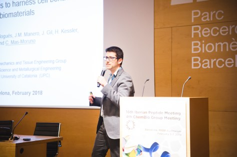 """Dr. Carles Mas-Moruno, Best """"flash"""" Presentation at the 16th Iberian Peptide Meeting / 4th Chemical Biology Group Meeting"""